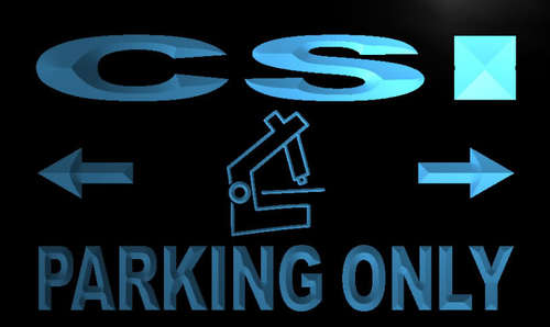 CSI Parking Only Neon Light Sign