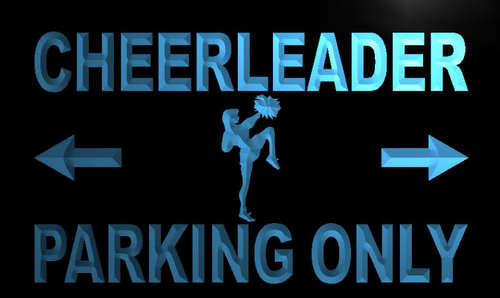 Cheerleader Parking Only Neon Light Sign