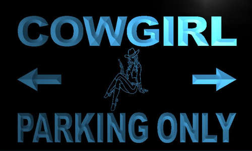 Cow Girl Parking Only Neon Light Sign