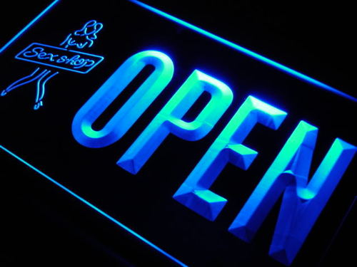 OPEN Sex Shop Adult Toys Lure Neon Light Sign